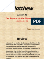 8. the Sermon on the Mount, Part 3