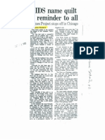 """Debran Rowland -- """"AIDS name quilt is reminder to all."""" (Chicago Tribune, 10/08/90)"""