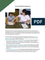 common core ela resources for middle school educators