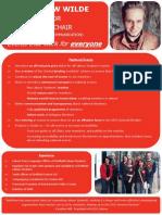 Matthew Wilde's Manifesto for VC (EC)