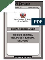 Decálogo del Juez - Código de Ética del Poder Judicial del Perú