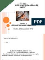 5° Los contratos informáticos