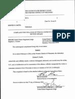 Kristen Smith Complaint Affidavit