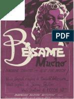 167119430 Besame Mucho Score PDF