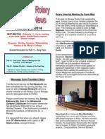 Rotary Newsletter 2-4-14