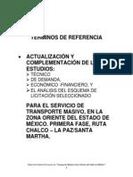 TDR Zona Oriente Chalco LaPaz SistMetro LinA28 Sep 2013