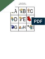 Bob the Builder Letter Tiles