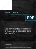 Movimientos Sociales Tilly