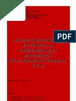 ALGUNAS REFLEXIONES ENTORNO A LA ENSENIANZA DE LA MATEMáTICA EN 1 CICLO