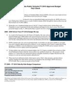 DCPS Budget Fact Sheet 10-2-09