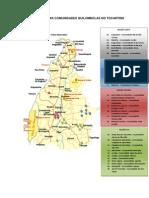 DISTRIBUIÇÃO DAS COMUNIDADES QUILOMBOLAS NO TOCANTINS(1)