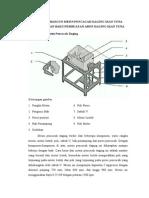 Proposal perancangan konstruksi mesin