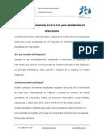 Información programa de mentores UCR