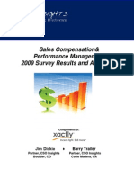 Analyst Report - CSO Insights 2009 Sales Compensation Survey Results
