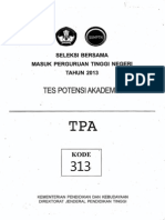 Sbmptn 2013 Tpa Kode313