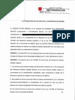 Requerimientos de actuación en el Frontón Beti-jai de Madrid