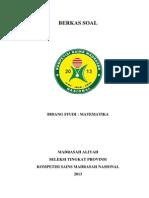 Soal Ksm Propinsi 2013 Ma Matematika