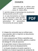 Examen de Operaciones Basicas de Word 2007