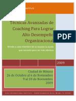 Técnicas Avanzadas de Coaching Para Lograr Alto Desempeño Organizacional