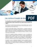 Analisis de La Ley Del Lavado de Dinero