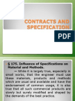 Contracts and Specification Report