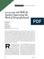 Knowledge and Skills of Teachers