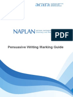 Amended 2013 Persuasive Writing Marking Guide -With Cover
