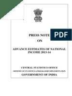 India - GDP Advance Estimates 2013-14