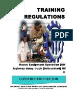 Articulated Off-highway Dump Truck NC II
