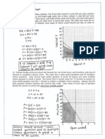 Linear Programming Practice Key