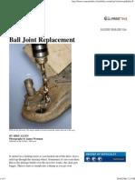 Popular Mechanics - Ball Joint Replacement