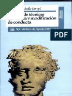 Manual de Tecnicas de Terapia y Modificacion de Conducta = Vincent E. Caballo Compilador