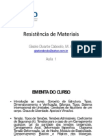 Aula 1 - Resistencia dos Materiais