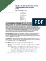 Struktur Susunan Dan Tugas Organisasi Tim p2k3