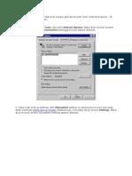 Seting Proxy Dan DNS