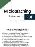 Micro Teach Introduction