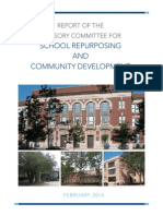 Report of the Advisory Committee for School Repurposing and Community Development