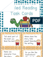 Leveled Reading Center Task Cards