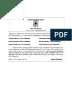 ADVT Qualification CWS-1