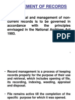 Management of Records