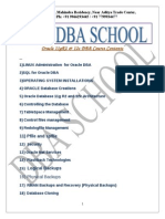 Oracle DBA training @ DBA School  @ Hyderabad