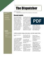 The Dispatcher Volume 3 Issue 2 August 2009