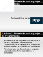Capítulo 2 Sintaxis de los Lenguajes de Programación