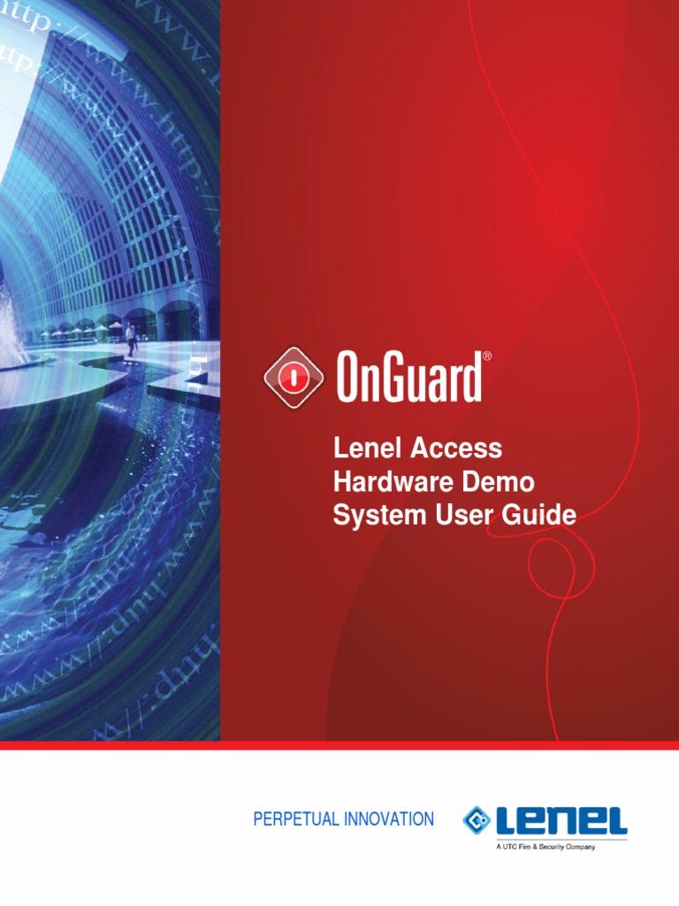 LNL Hardware Demo Guide Access Control – Lenel 1320 Wiring Board Diagram