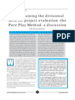 Pure Play Method of Divisional Beta (CA 2002)