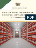 Codigo de Normas Servicos Notariais E Registro PIAUI PROVIMENTO 17 v8