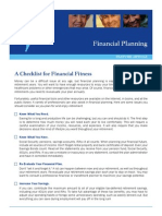Financial Fitness Checklist