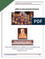 Jeeva Samadhi in and Around Chennai