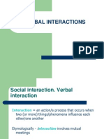 Verbal Interactions