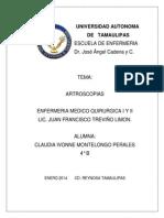 artroscopias resumen